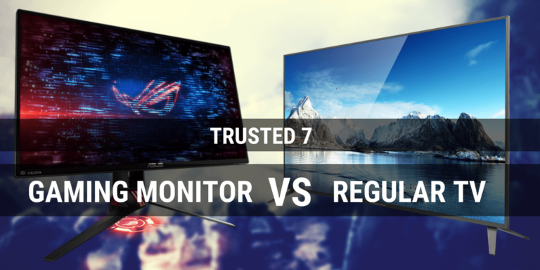 Gaming Monitor vs TV: Do I really need a gaming monitor? [Infographic]